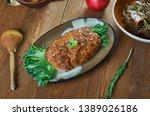 belgian meatloaf  belgian...   Shutterstock . vector #1389026186