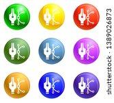 curve icons 9 color set...