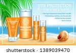 sunscreen concept banner....   Shutterstock . vector #1389039470