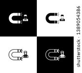 set customer attracting icons... | Shutterstock .eps vector #1389054386
