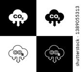 set co2 emissions in cloud... | Shutterstock .eps vector #1389055313
