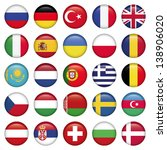 european icons round flags  zip ... | Shutterstock .eps vector #138906020