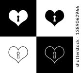 set heart with keyhole icons... | Shutterstock .eps vector #1389062966