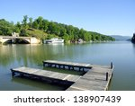 Boat Dock At Lake Lure In Nort...