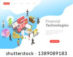 isometric flat vector landing...   Shutterstock .eps vector #1389089183