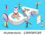 isometric flat vector concept...   Shutterstock .eps vector #1389089189