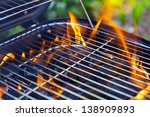 house grill with big flame | Shutterstock . vector #138909893
