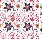 ornate floral seamless texture  ... | Shutterstock .eps vector #138910028