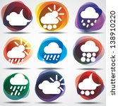 weather icons set. eps10. image ... | Shutterstock .eps vector #138910220