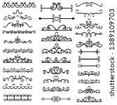 decorative swirls dividers. old ...   Shutterstock . vector #1389109703