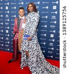 Small photo of New York, NY - May 4, 2019: Ryan Jamaal Swain and Dominique Jackson attend the 30th Annual GLAAD Media Awards at New York Hilton Midtown