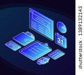 online banking isometric color... | Shutterstock .eps vector #1389132143