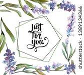 blue violet lavender floral... | Shutterstock . vector #1389134366