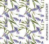 blue violet lavender botanical... | Shutterstock . vector #1389134369
