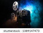 old vintage movie projector on...   Shutterstock . vector #1389147473