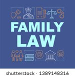 family law word concepts banner....