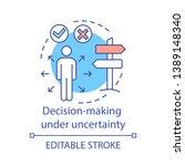 decision making under... | Shutterstock .eps vector #1389148340
