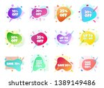 12 modern liquid abstract... | Shutterstock .eps vector #1389149486