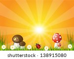 beautiful vector landscape with ... | Shutterstock .eps vector #138915080