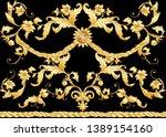 seamless pattern  background in ... | Shutterstock .eps vector #1389154160