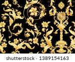 seamless pattern  background in ...   Shutterstock .eps vector #1389154163