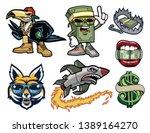 hip hop hood mascots pack | Shutterstock .eps vector #1389164270