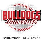 bulldogs baseball design is a... | Shutterstock .eps vector #1389166970