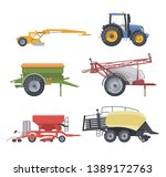 flat isolated agricultural... | Shutterstock .eps vector #1389172763