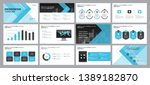 set blue business presentation... | Shutterstock .eps vector #1389182870