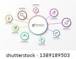 infographic design template.... | Shutterstock .eps vector #1389189503
