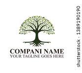 tree of life logo design roots...   Shutterstock .eps vector #1389190190