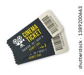 two cinema ticket set for... | Shutterstock .eps vector #1389200663