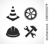construction vector icon set... | Shutterstock .eps vector #1389205079