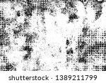 Stock vector grunge background black and white abstract vector texture of cracks chips dirty monochrome 1389211799