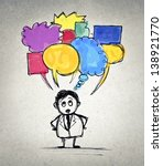 businessman has many thoughts | Shutterstock . vector #138921770