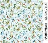 watercolor seamless pattern... | Shutterstock . vector #1389219116
