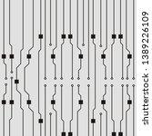 vector circuit board background.... | Shutterstock .eps vector #1389226109