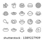 set of food icons  such as... | Shutterstock .eps vector #1389227909