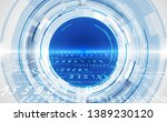 abstract security digital... | Shutterstock .eps vector #1389230120