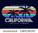 california venice beach text... | Shutterstock .eps vector #1389238190