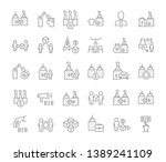 set of vector line icons of b2b ... | Shutterstock .eps vector #1389241109