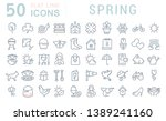 set of vector line icons of... | Shutterstock .eps vector #1389241160