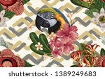 vintage beautiful and trendy... | Shutterstock . vector #1389249683