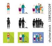 vector design of character and... | Shutterstock .eps vector #1389252209