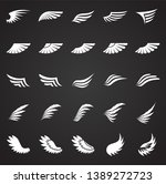wings icons set on black... | Shutterstock .eps vector #1389272723