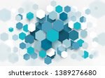 abstract blue and white... | Shutterstock .eps vector #1389276680