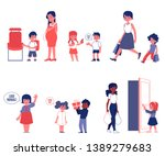 kids good manners and polity... | Shutterstock .eps vector #1389279683