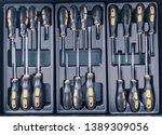 Set of screwdrivers inside...