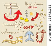 set of hand drawn arrows | Shutterstock .eps vector #138931388