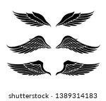 wings vector set. eps format | Shutterstock .eps vector #1389314183